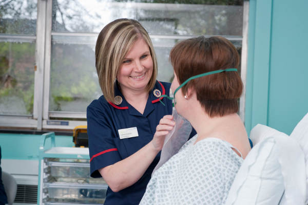 Clinical Matron Claire Eastick on a training day. Picture credit: Nathan Clarke