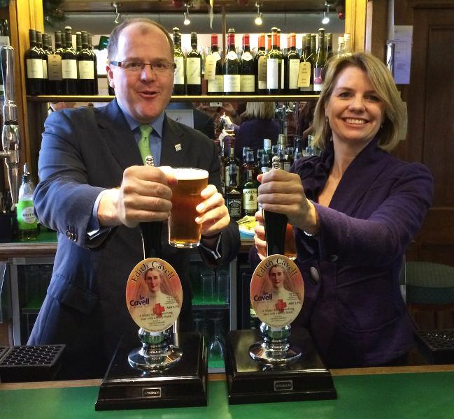 MP George Freeman and Susan Gostick, Cavell Nurses' Trust Trustee