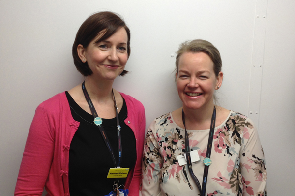 Consultant nurse endoscopists Harriet Watson (left) and Fiona Hibberts (right) who have helped to launch the training pilot