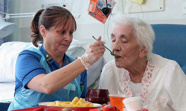 Feeding a patient
