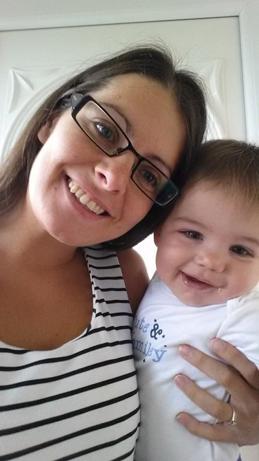 Melissa Mead with her child William who died after contracting an infection.  Picture credit: SWNS