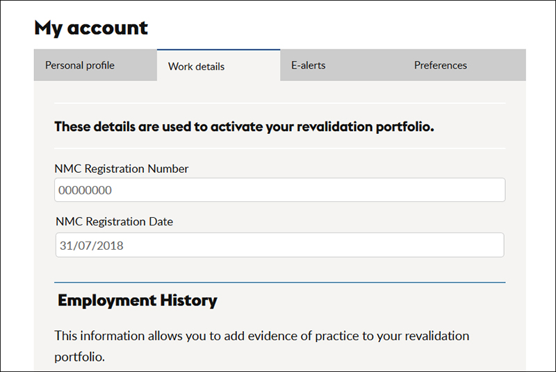 Your guide to the rcni portfolio rcni if you are not registered with the nmc and wish to use the portfolio please simply enter todays date instead of your registration date altavistaventures Image collections