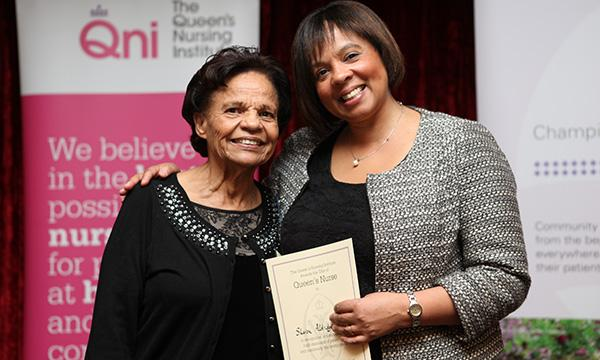 QNI award winner Sharon Aldridge-Bent with her mother Doris Aldridge