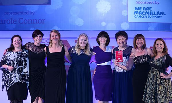 Carole Connor and the team from South Warwickshire NHS Foundation Trust's Aylesford Unit