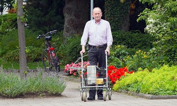 Exercising older man