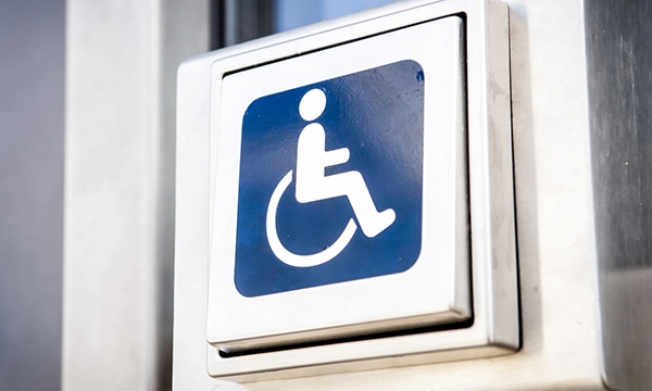 Disabled door open button