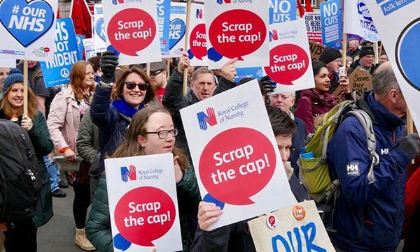 NHS pay cap