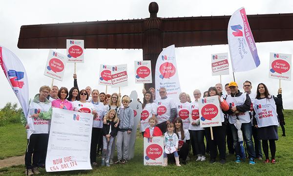 Nurse protests in Gateshead