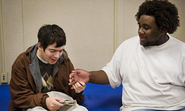 Young person with cerebral palsy