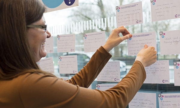 Woman taking part in training session at CRUK CRN programme launch