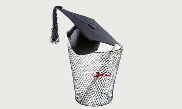 Degree in the bin