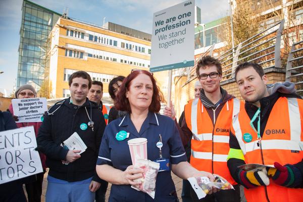 Nurses support doctors